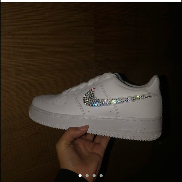 Women's Nike Air Force one & Swarovski crystals NWT
